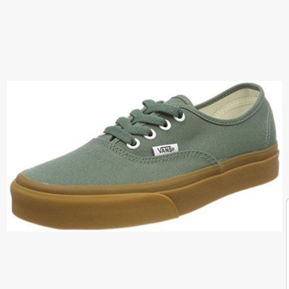 Nwt Duck Green Vans Gum Sole Sneaker
